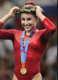 2004 Gold Medal winner Carly Patterson will
