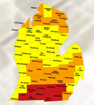 radon in Michigan graphic