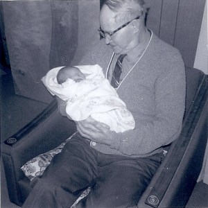 Grandpa Havens holding his first great grandson