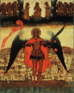 Archangel_Michael_and_City_of_Archangel--protector of Arkhangelsk Russia