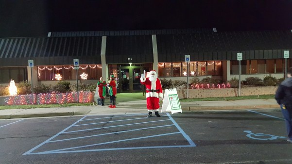 Santa waiting to spread Christmas cheer to all the Children ready to hear!