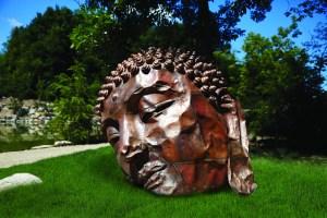 "Zhang Huan's ""Long Island Buddha,"" in the Richard and Helen DeVos Japanese Garden at Frederik Meijer Gardens & Sculpture Park. (Supplied photo)"