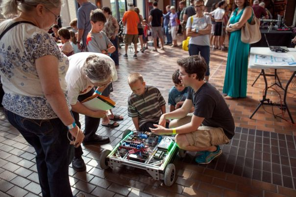 The Maker Faire brings all ages together to talk about xxxx