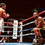 Pacquiao Lucas takes a knee
