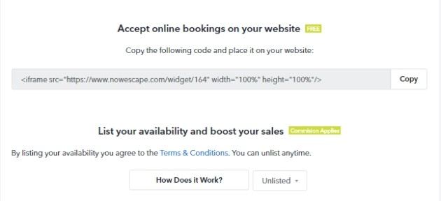 Two simple ways to make booking portal available to customers