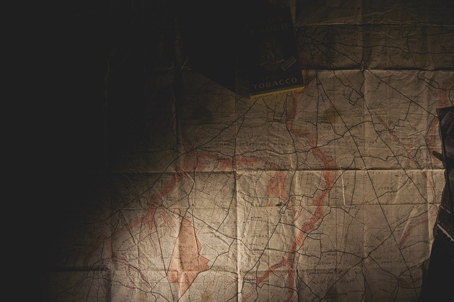 Escape room ideas: hide clues in an old map