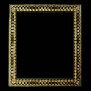 black baroque picture frame