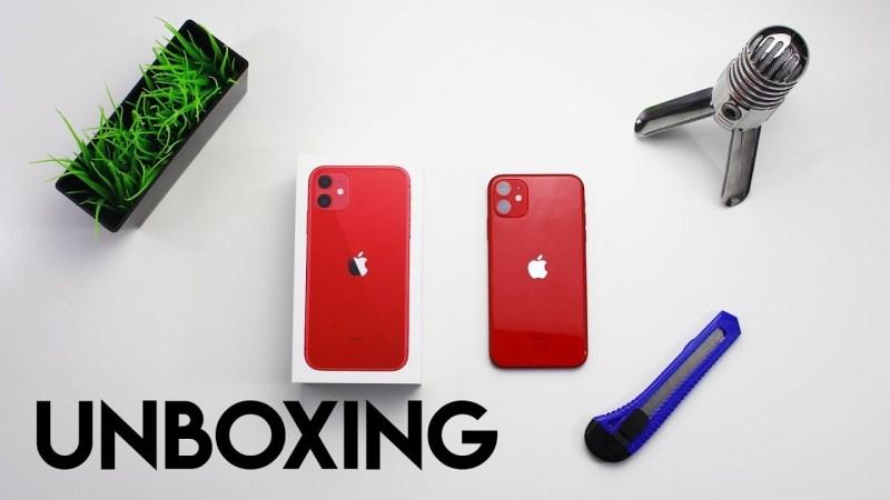 UNBOXING *iPhone 11* RED – ita