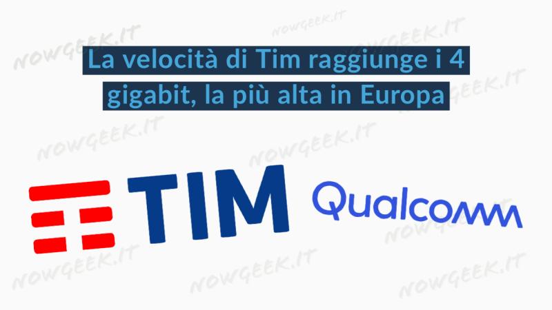 IL 5G DI TIM SUPERA I 4 GIGABIT AL SECONDO, RAGGIUNTO NUOVO RECORD EUROPEO
