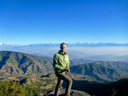 Meigo loving life in Dhungkharka, Nepal