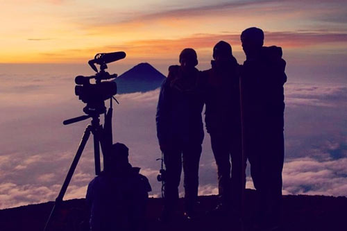 Nowhere Men top of Volcan Acatenango Guatemala