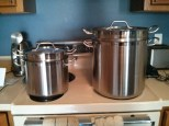 8 quart and 20 quart double boilers.