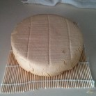 Vegan cheese that has been air dried for about three days.