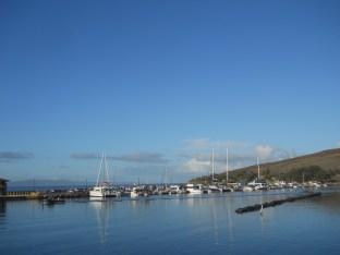Maalaea Harbor, as seen from the boat.