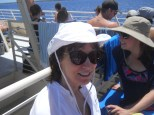 My Mom on the boat on our way to Molokini