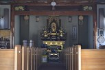 Inside view of the Buddhist Temple