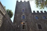 Outside Castello di Brolio