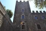 Outside Castello di Brolio