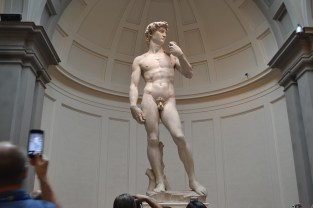 The famous David statue