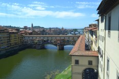The view of Florence from the Uffizi