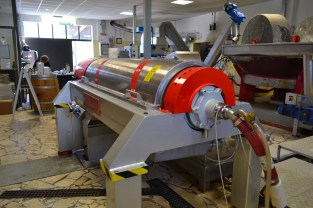 This machine is used separate the olives into solids and liquids.