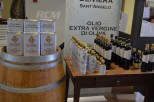 A display of the olive oils that they produce.
