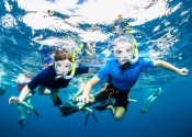 Kevin and I under water
