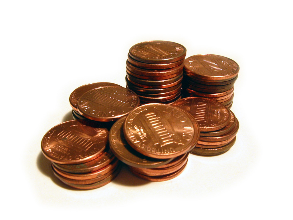 Stacks of Pennies