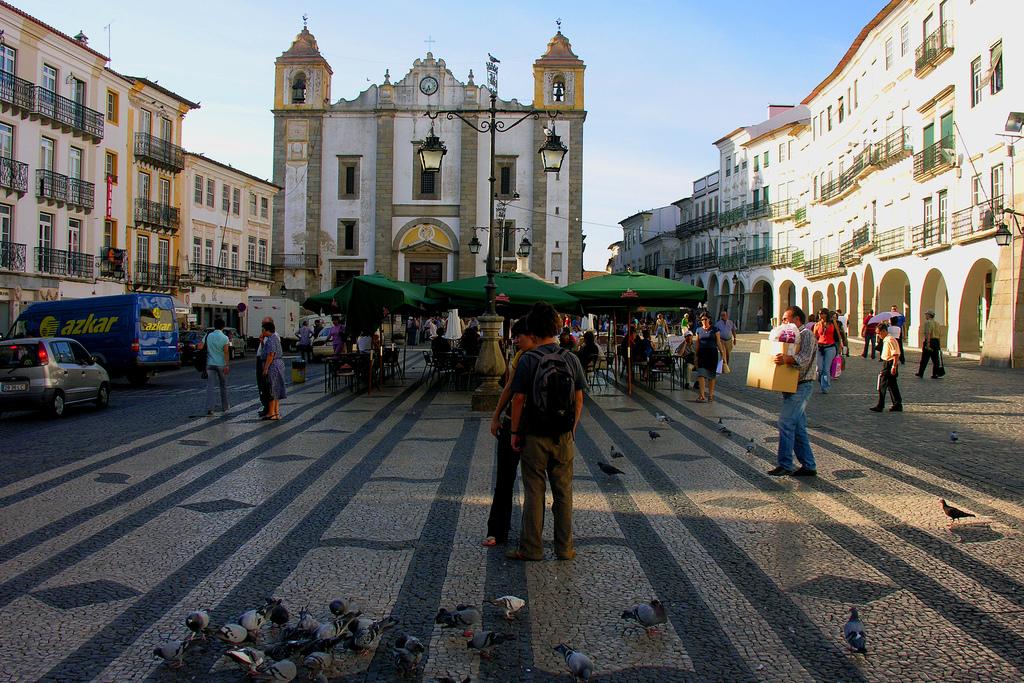 Praca do Giraldo à Évora - voyage au Portugal