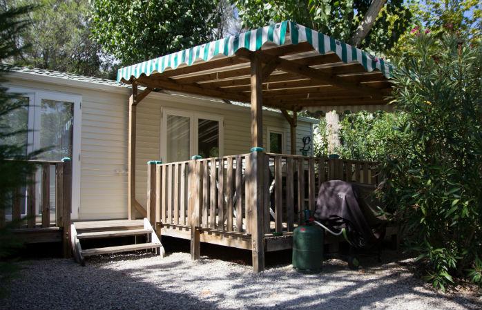 les mobilhomes tout confort du camping Sandaya douce quiétude
