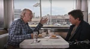 """#Televisión El Doc Emmet Brown y Marty McFly se reúnen en """" el futuro """". (+VIDEO)"""
