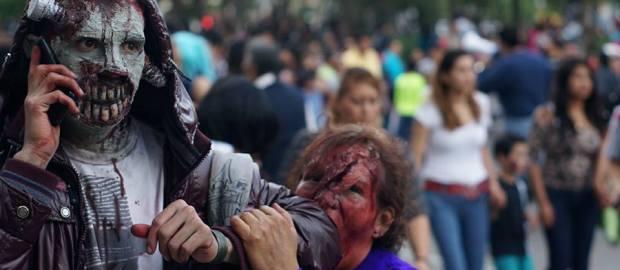 #Terror Conviertete en un Zombie y camina por las calles de la Ciudad de México