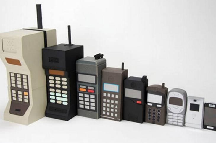 celulares -evolución -retro