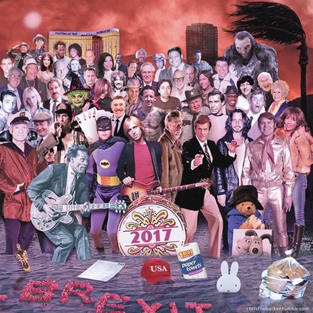 #NowNews : Los fallecidos del 2017 juntos, en un póster.