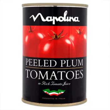 Image of canned red Peeled Plum Tomatoes on NowNowExpress for sending groceries from anywhere anytime