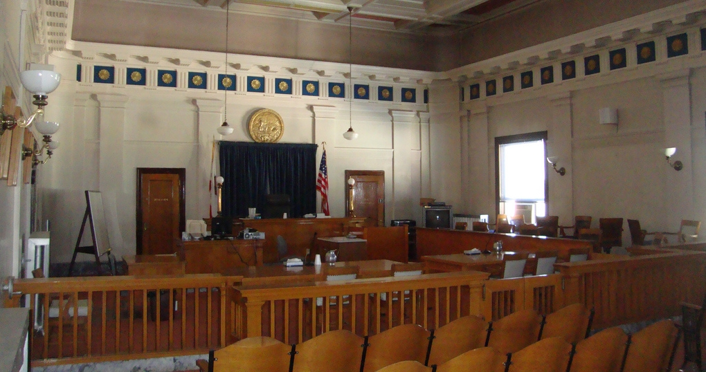 Alturas, California courtroom