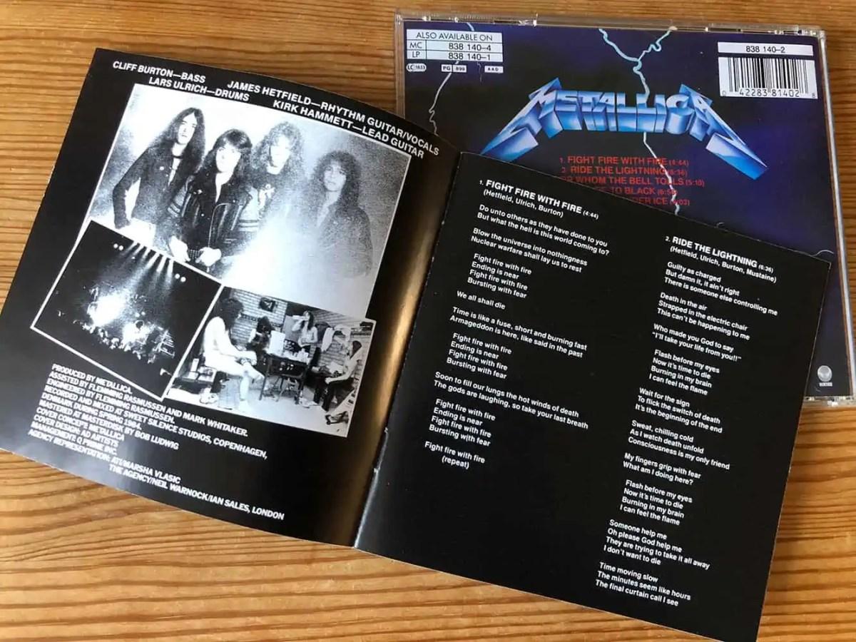 Metallica - Ride The Lightning CD