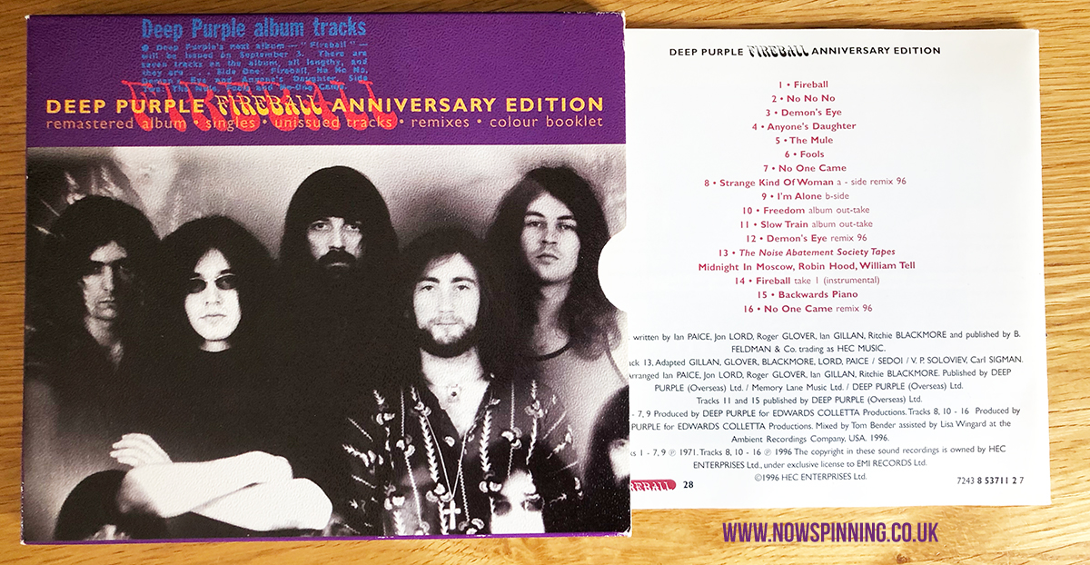 Deep Purple Fireball CD Remaster 1996