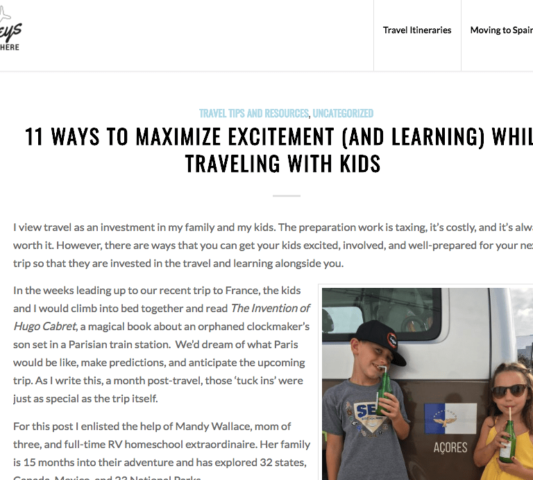 Collab: 11 ways to maximize excitement (and learning) while traveling with kids