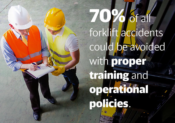 70% of forklift accidents could be avoided with proper training