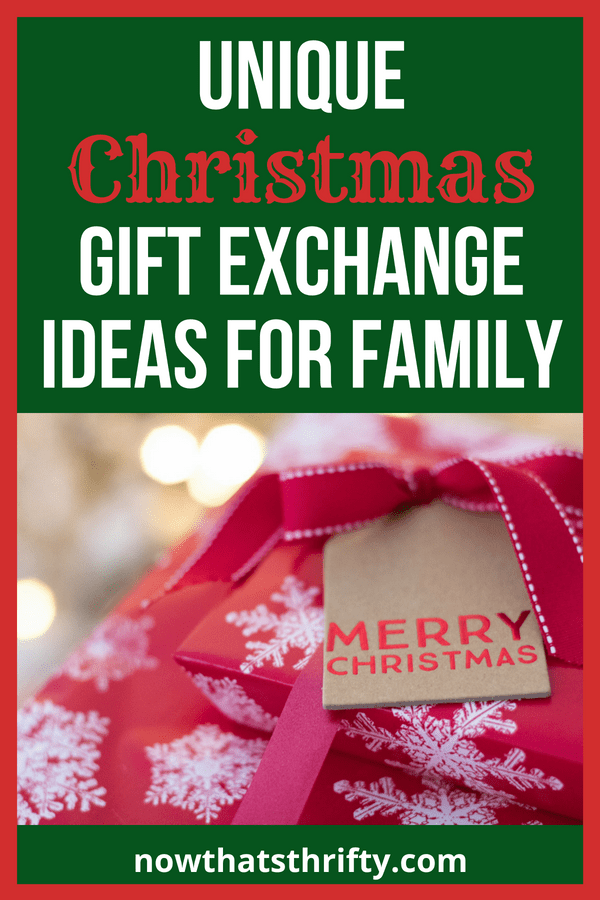 Creative family christmas gift exchange ideas