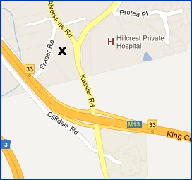 Map and directions to Shongweni Farmers Market