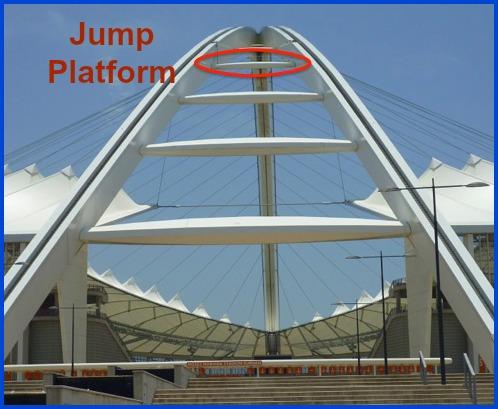 Jump platform at Moses Mabhida Stadium