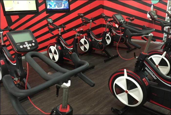 Virgin Active Wattbike studio.
