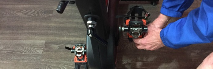 Remove Wattbike pedal cages.