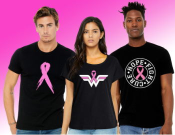 T-shirts for breast cancer awareness