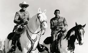 b lone ranger and tonto on horses