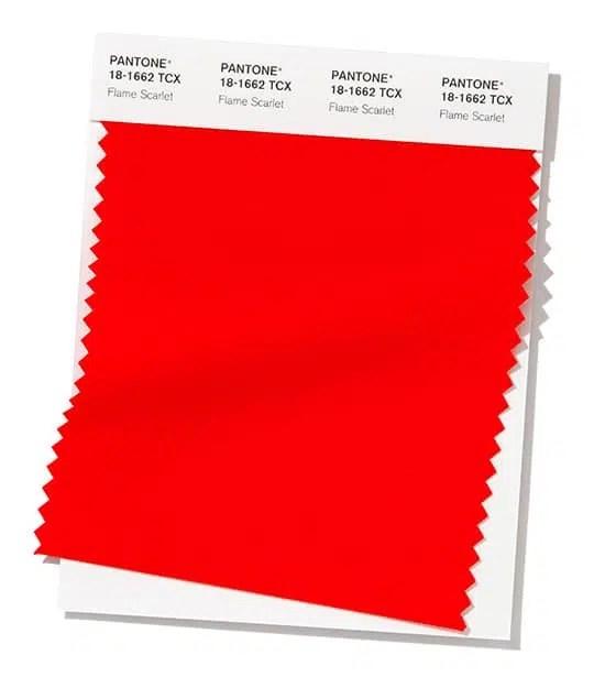 pantone flame scarlet