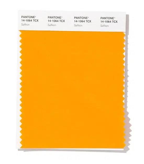 pantone saffron