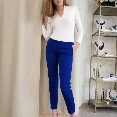 női 7/8-os nadrág kék - hecendorfer fashion